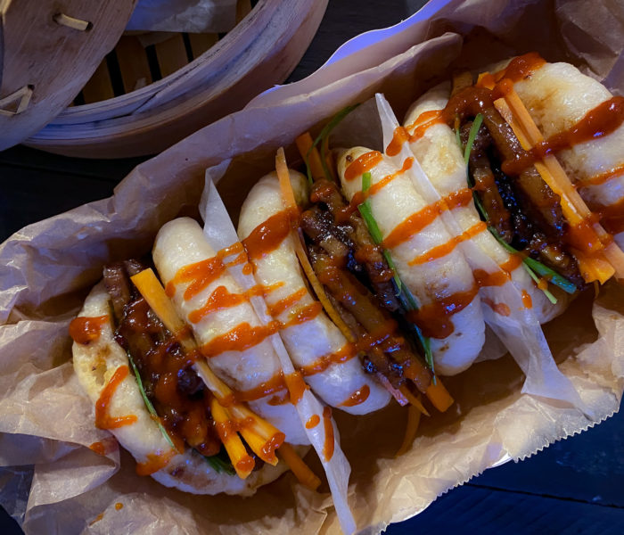 Bao buns con pancetta glassata