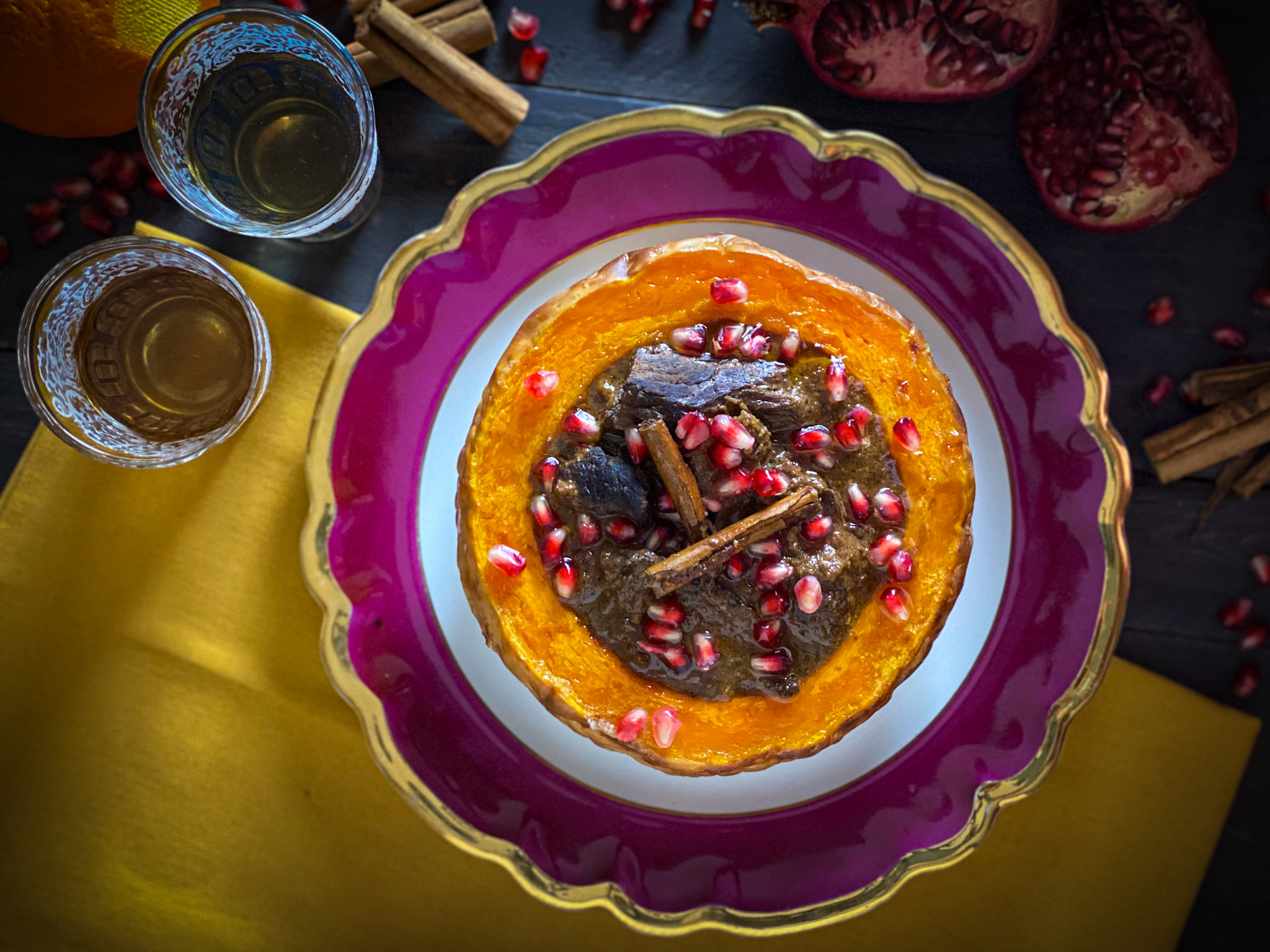 FESENJAN: lo stufato persiano con melograno e noci (rivisitato)