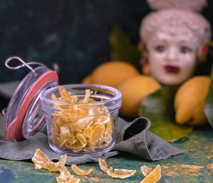 Scorzette di limone candite: profumo d'estate