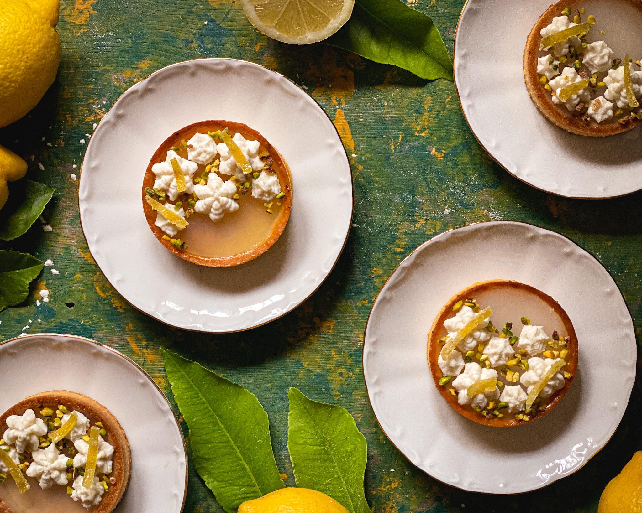 Modern tart al gelo di limone e ricotta dolce